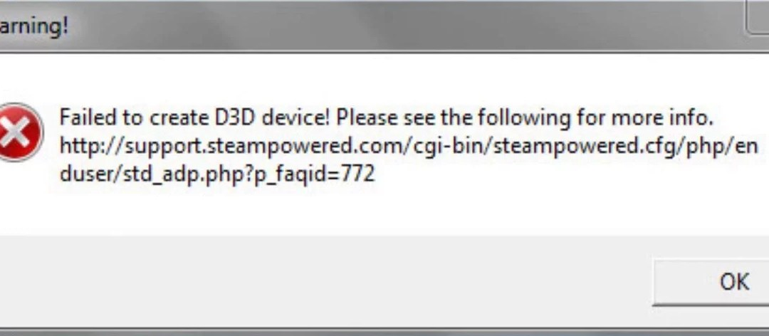 Failed to create D3D device! Error Message (Source Engine Game) like CSGO or Left For Dead 2 (RADEON FIX!) – December 2019 fix
