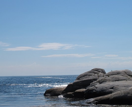 I spent some time praying and reflecting on this rock in Biddeford, Maine.