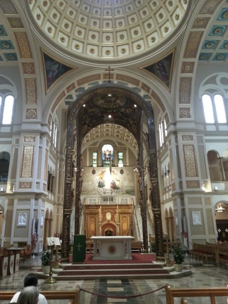 The main altar at the Franciscan Monastery in Washington, D.C., on Saturday, July 16, 2016.
