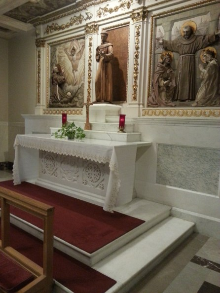 An altar dedicated to St. Francis at the Franciscan Monastery in Washington, D.C., on Saturday, July 16, 2016.