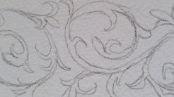 Illumination sketch detail.