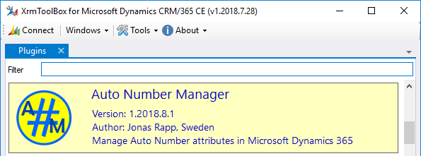 Auto Number Manager in XrmToolBox