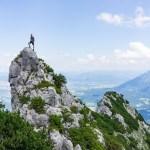 Mein bester Wandersmann während einer Tour zum Hochstaufen in den Chiemgauer Alpen im Sommer 2018.