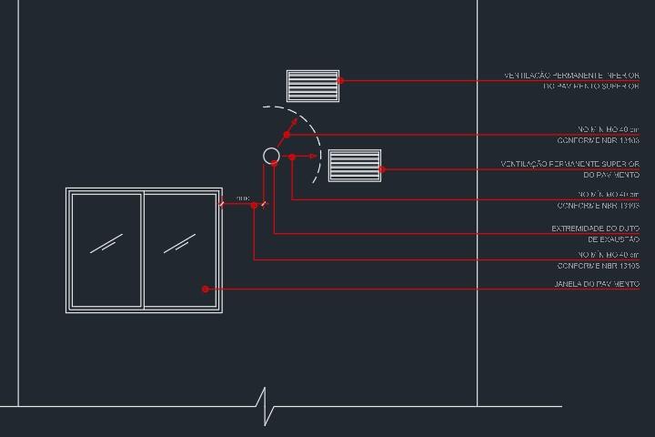 detalhe projeto de gás em dwg