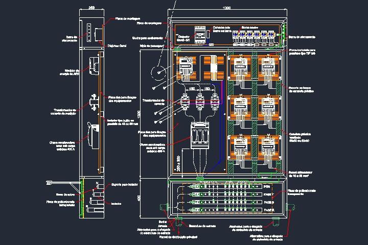 Caixa tipo N padrão Enel em dwg
