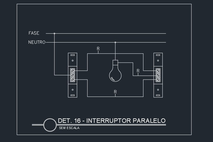 Esquema elétrico de interruptor paralelo