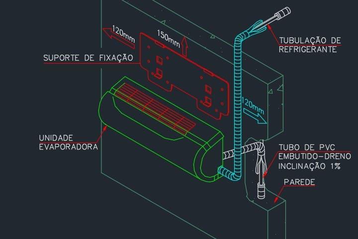 evaporadora-projeto-climatizaçao-dwg