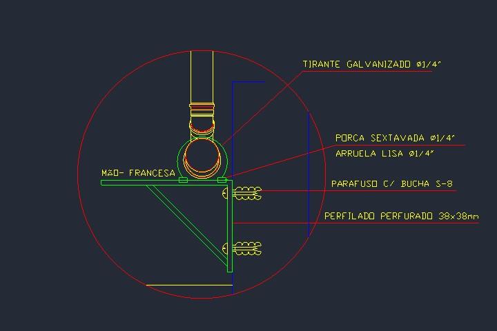 Mão francesa para suporte de tubos de esgoto e pluviais