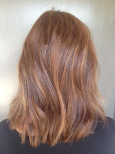 warm auburn brunette hair color