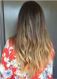 ombre bronde hair color