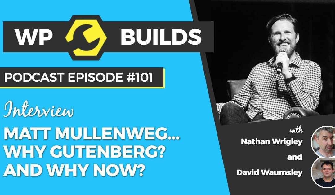 It's just software! WP Builds chats to Matt Mullenweg about Gutenberg.