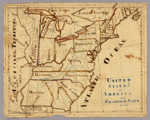 United States of America by Bradford Scott (1816)