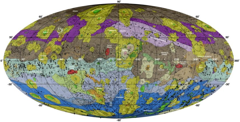 Geologic map of Vesta