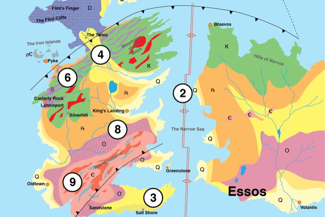 The Geology of Game of Thrones