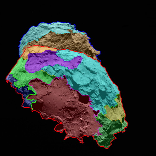 OSIRIS map of Comet 67P/Churyumov-Gerasimenko