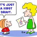 First draft blues