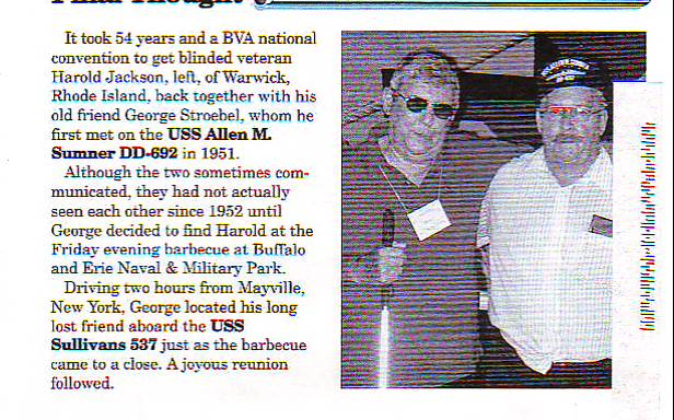 A newsletter clipping about my grandfather reuniting with an old friend after 54 years.