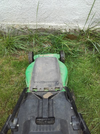 THIS CONFOUNDED MOWER. Luckily, we averted a major tragedy by a perfectly timed engine failure.