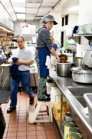 Making sauces at King and I
