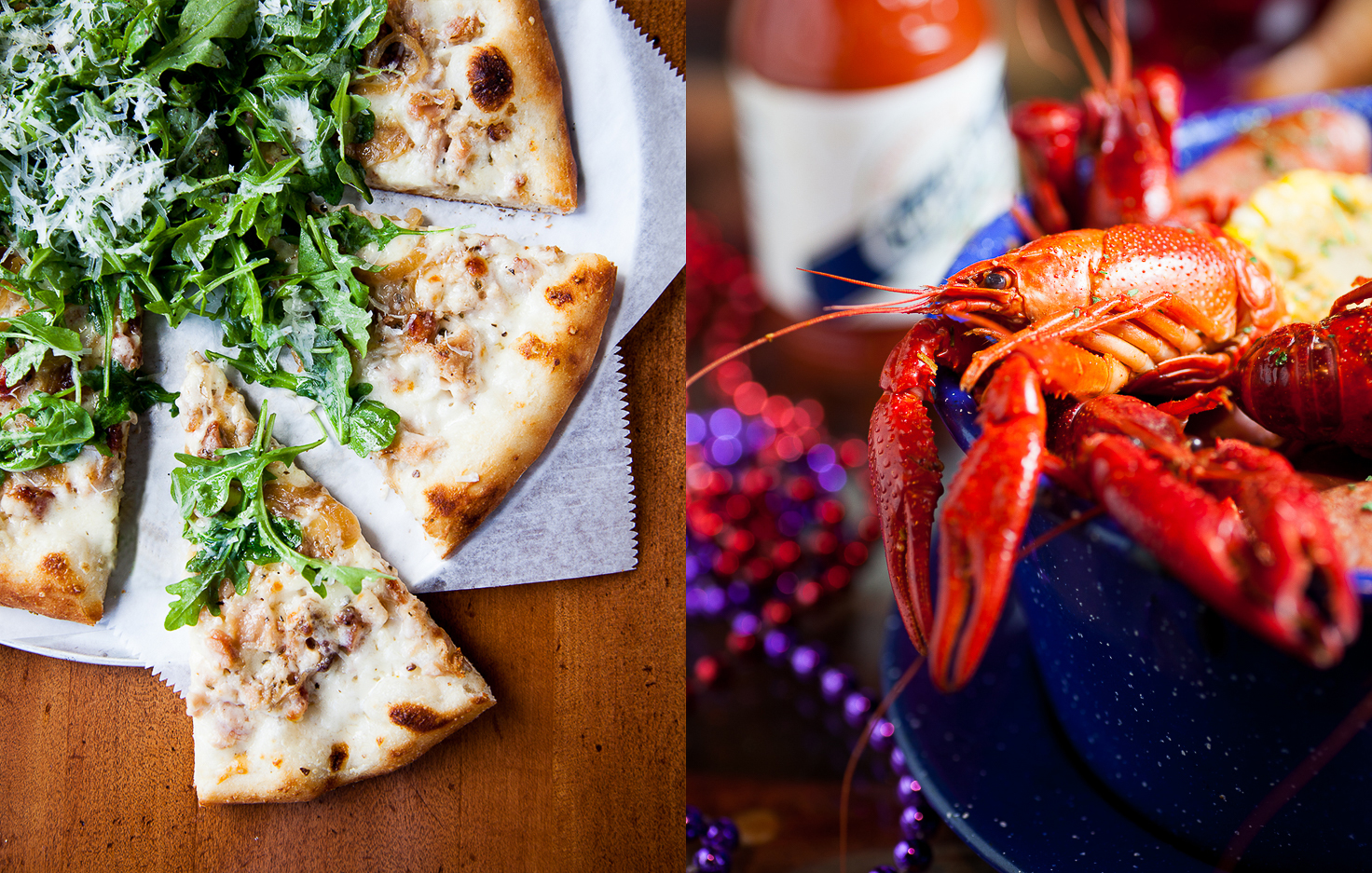 White Arugula Pizza | Crawfish-Boil