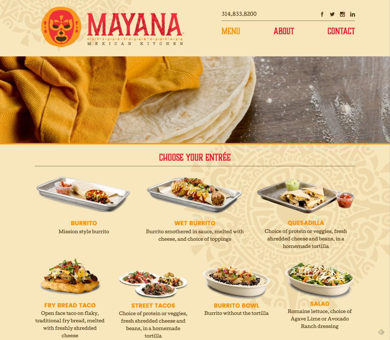 MayanaMex-Menu