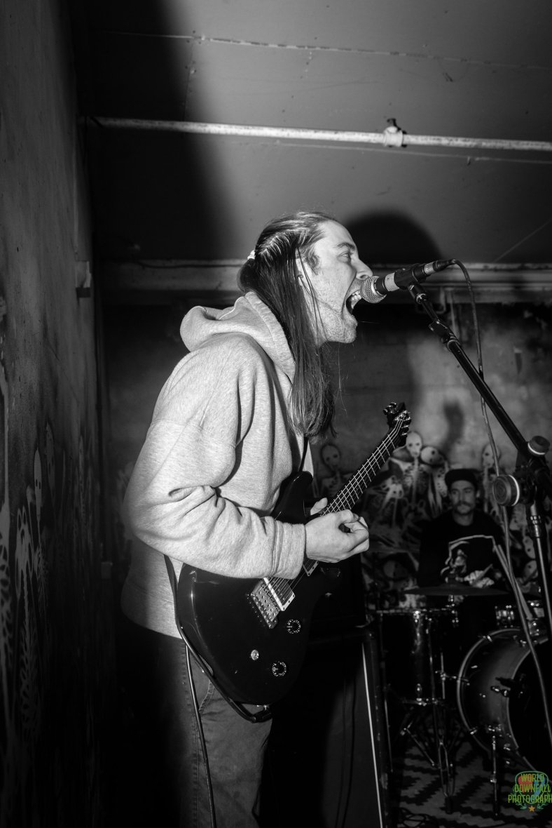 Jonathan Playing Guitar Live With Scum Bastard
