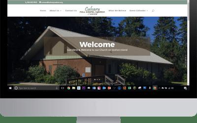 Vashon Church Website Complete