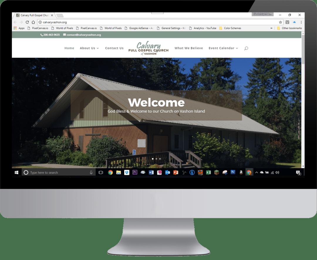 Web Design, Jonathan Guadamuz, HTML, Designer, Vashon, Calvary Full Gospel Church, Calvary Vashon