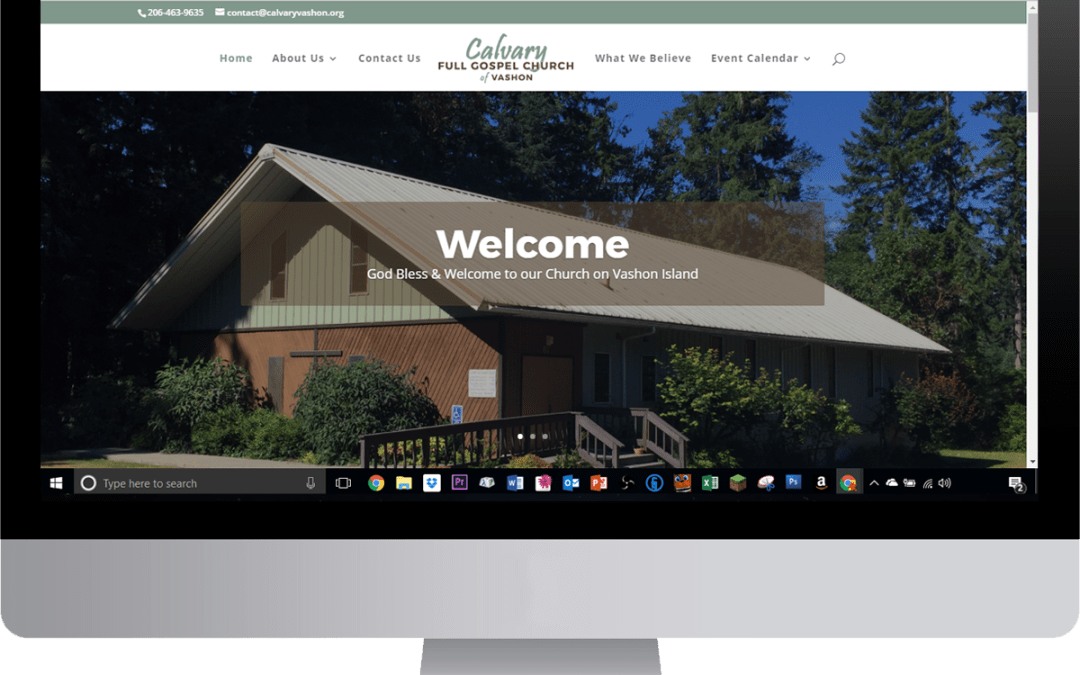 Vashon Church Website Complete