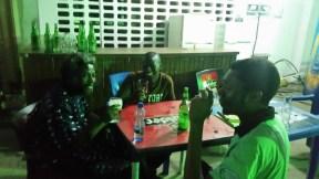University of Ibadan Senior Staff Club: Sola Olorunyomi, Kenneth Gyang, and Benson, 2015