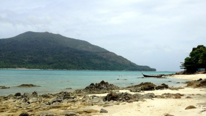 View from the beach, just a short stair descent down from our cottage