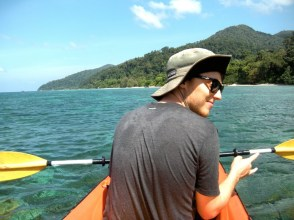 On Board the Sea Kayak near Koh Lipe