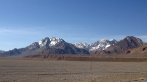 Some of the first snowcapped mountains just after Murghab