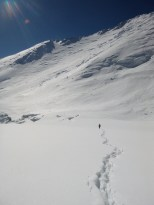 The hike out from Camp 2