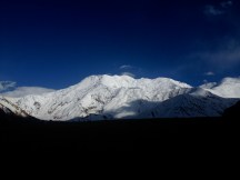 View from Achik-Tash Base Camp, which was deserted