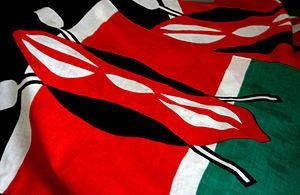 A variation on the Kenyan flag.