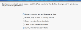 DesktopServer Import