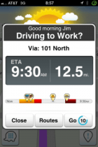 Good morning Jim, Driving to Work? - Waze suggests your typical routes