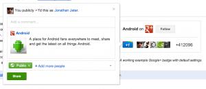 Google+ badge gets an update