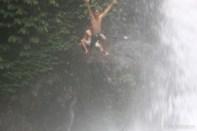 Bali travel - waterfall jumping 5
