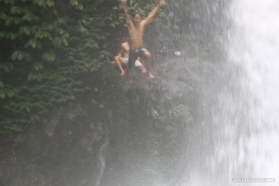 Bali travel - waterfall jumping 5