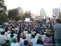 Bangkok again - Lumphini park protests rally 1