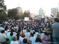 Bangkok again - Lumphini park protests rally 1