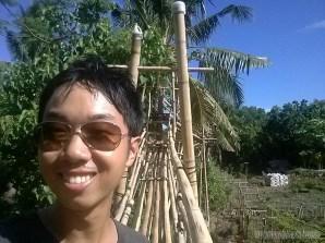 Bohol - Coco farm hostel bamboo skywalk portrait