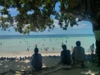 Bohol - hidden beach kids playing 2