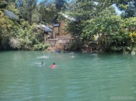 Bohol tour - Loboc river cruise view swimming kids