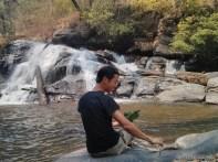 Chiang Mai trekking - day 2 waterfall 3 lunch portrait 1