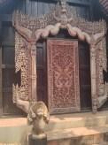 Chiang Rai - black house door art