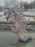 Chiang Rai - white temple decoration 5