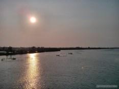 Hoi An - biking river sunset 1